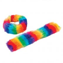 Plush Rainbow Slap Bracelets