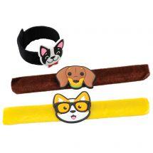 Furry Dog Slap Bracelets