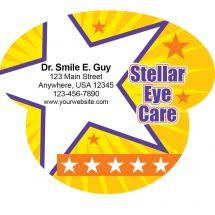 Shaped Stellar Eye Card Magnets