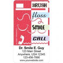 Brush Floss Smile Call Magnets