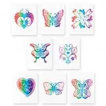 RAINBOW GLITTER TATTOOS
