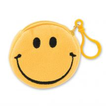Plush Smiley Coin Purse Backpack Pulls