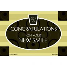 Congrats on Your New Smile Recall Cards