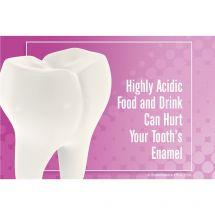 Acid Hurts Teeth Recall Cards