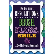 Dental New Year Resolutions Recall Cards