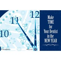 New Year Dentist Recall Cards