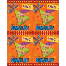 New Year Smile Laser Cards