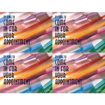 Time For Appointment Brushes Laser Cards