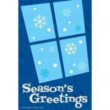 Season's Greetings Snowflake Recall Cards
