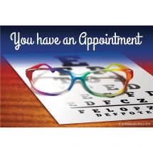 You Have an Appointment Glasses Recall Cards