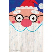 Santa with Glasses Recall Cards