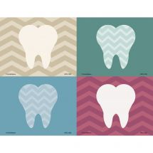 Assorted Chevron Tooth Laser Cards