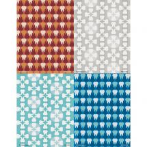 Assorted Tooth Patterns Laser Cards