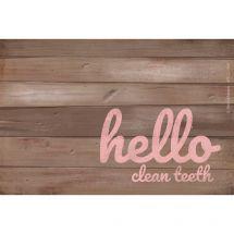 Custom Rustic Hello Dental Recall Cards