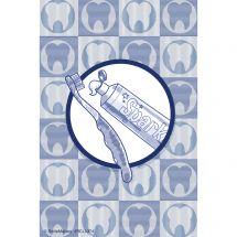 Custom Scatter Teeth Recall Cards