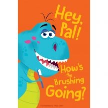 Dino How's the Brushing Recall Cards