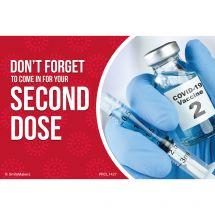 Custom COVID Vaccine 2nd Shot Reminder Recall Cards