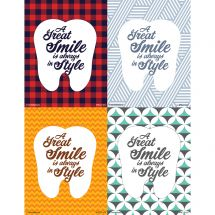 Assorted Laser Great Smile Tooth Recall Cards