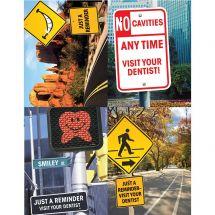 Assorted Dental Signs Laser Cards