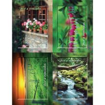 Assorted Nature Scenic Laser Cards