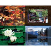 Assorted Seasons Laser Cards