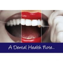 A Dental Health Note Recall Cards
