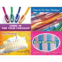 Toothbrush Assorted Laser Cards