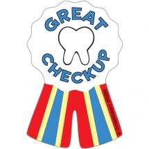 Shaped Dental Ribbon Stickers