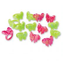 Plastic Butterfly Rings