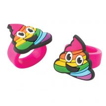 Rainbow Emoji Poop Ring