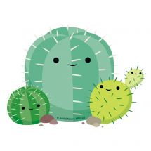 Cute Cactus Re-stickables