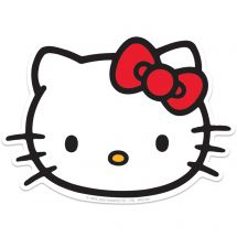 Hello Kitty Face Re-stickables