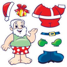 Make Your Own™ Santa Stickers