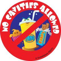 No Cavities Stickers