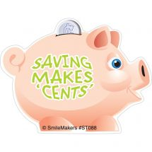 Shaped Piggy Bank Stickers