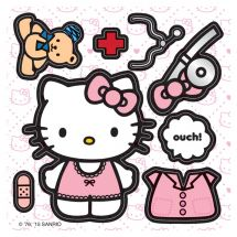 Make Your Own Hello Kitty Doctor Stickers