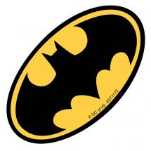Shaped Batman Logo Stickers