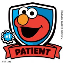 Elmo Patient Stickers