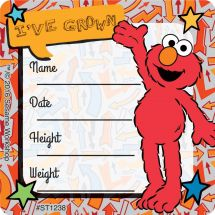 Elmo I've Grown Stickers