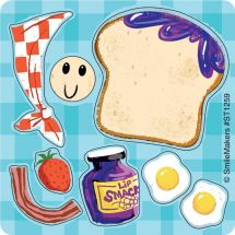 Make Your Own Toast Character Stickers