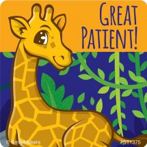 Great Patient Jungle Friends Stickers