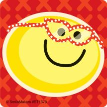 Smiley Guy with Glasses Stickers
