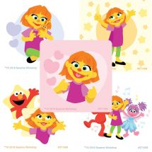 Sesame Street & Julia Stickers
