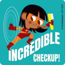Super Hero Dental Checkup Stickers