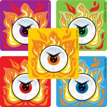 Fire Eyes Stickers