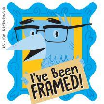 I've Been Framed Stickers