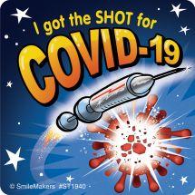 COVID-19 Shot Rocket Stickers