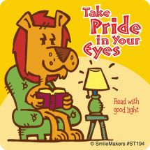 Pride in Eyes Lion Stickers