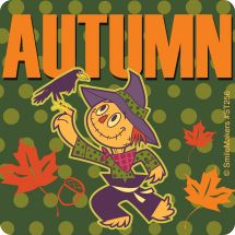 Autumn Scarecrow Stickers