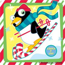 Scented Peppermint Penguins Stickers